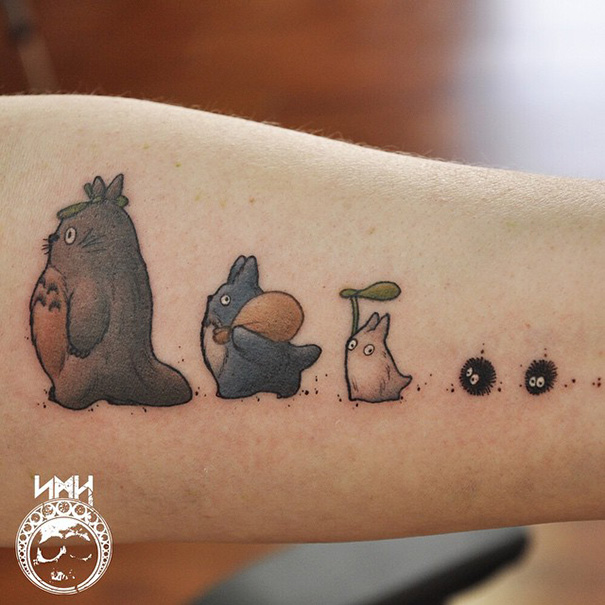 61 Studio Ghibli Tattoos Inspired By Miyazaki Films Bored Panda