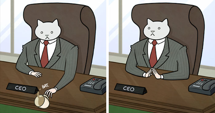 How Your Office Would Look If Your Boss Was A Cat Bored