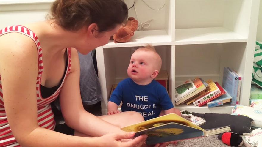 Baby Loves Literature So Much That He Cries Every Time A Book Ends