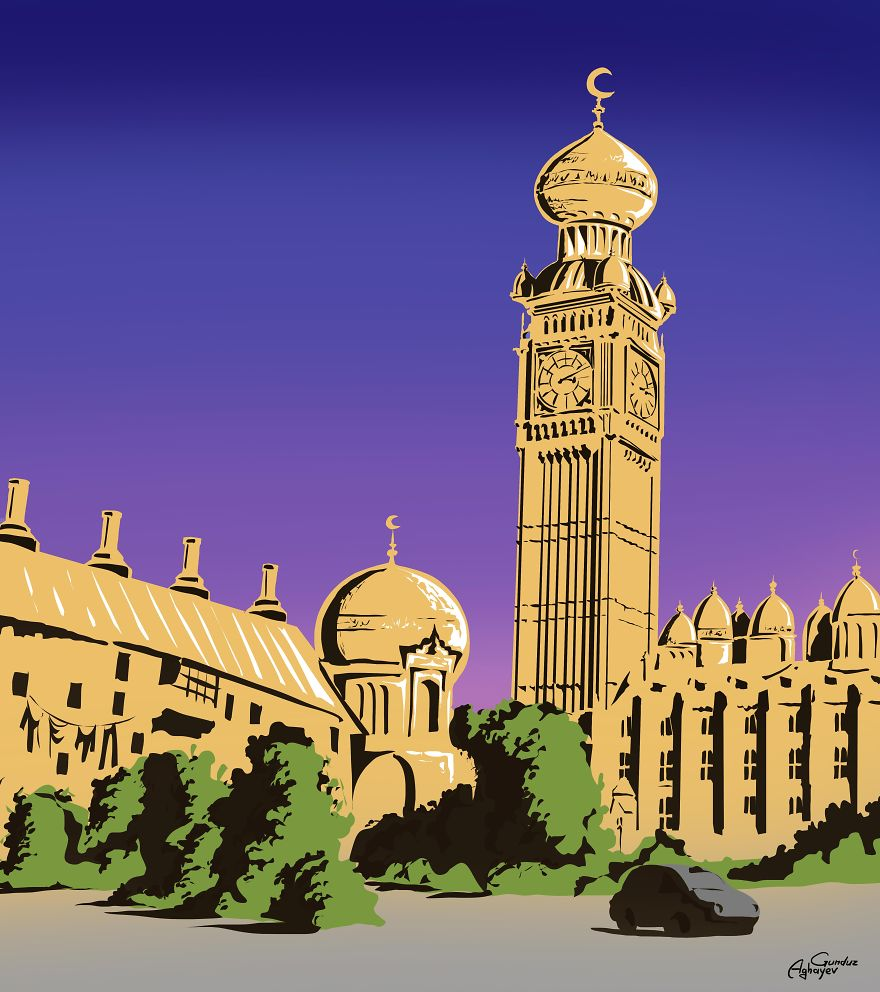 Famous Western Landmarks Reimagined In Eastern Architectural Styles