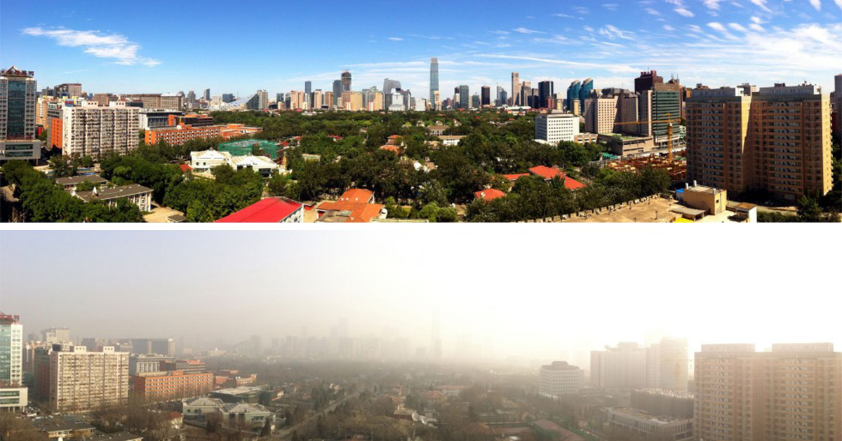 beijing bans 25 million cars residents see blue skies for first time in ages bored panda