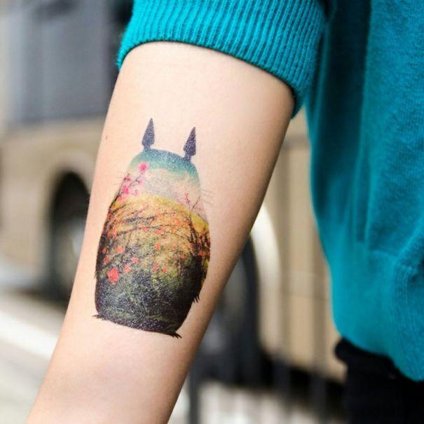 Tonari No Totoro - Victor Vercesi Inspired Tattoo