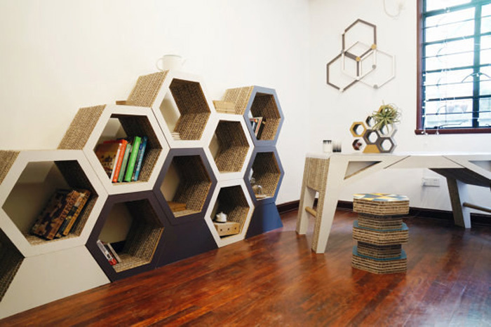 Honeycomb Bookcase