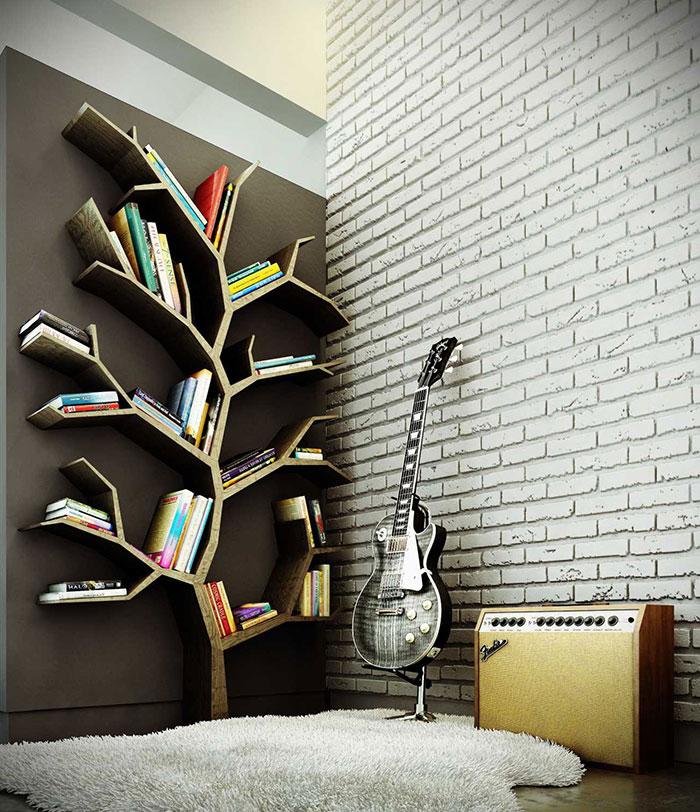 1. Giá sách hình cây