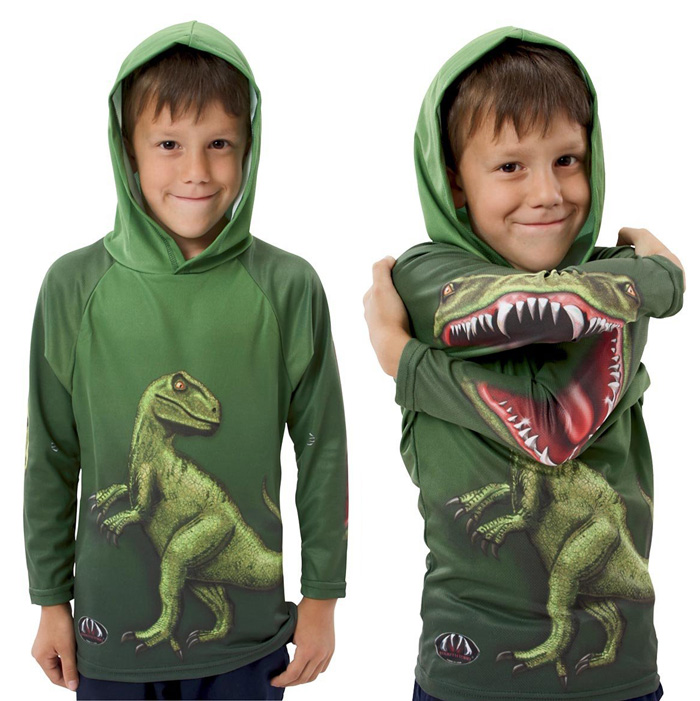 Hoodie With T Rex Design