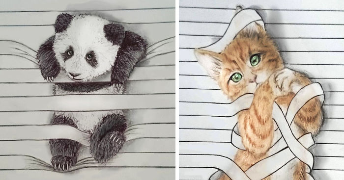 draw animals that don t want to stay between the lines bored