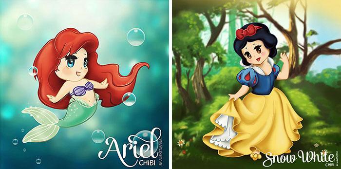 I Draw Cute Disney Princesses Chibi Style