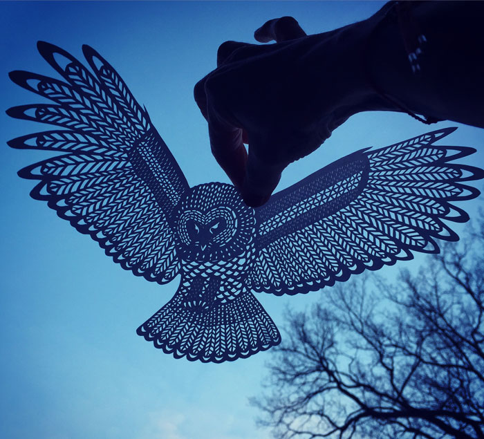 I Handcut Paper Animals And Use The Sky To Bring Them To Life