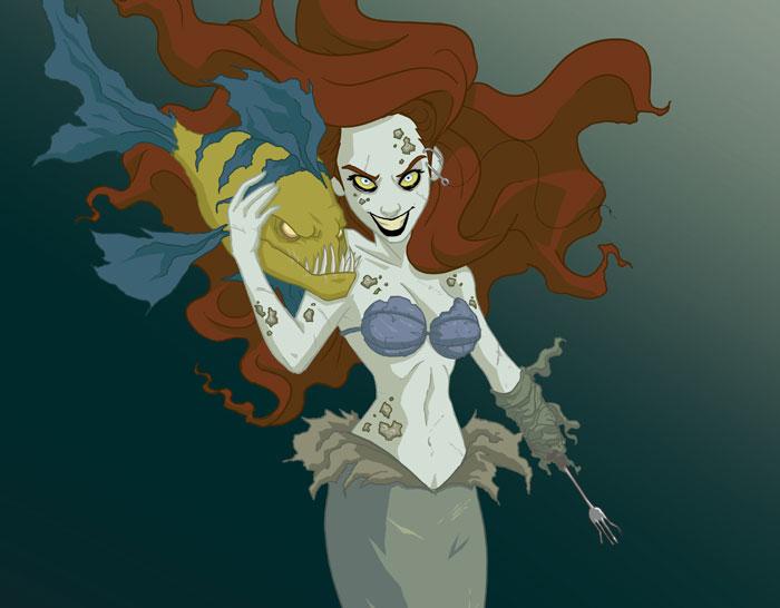 Disney Princesses Reveal Their Dark Sides In Creepy Illustrations By Jeffrey Thomas