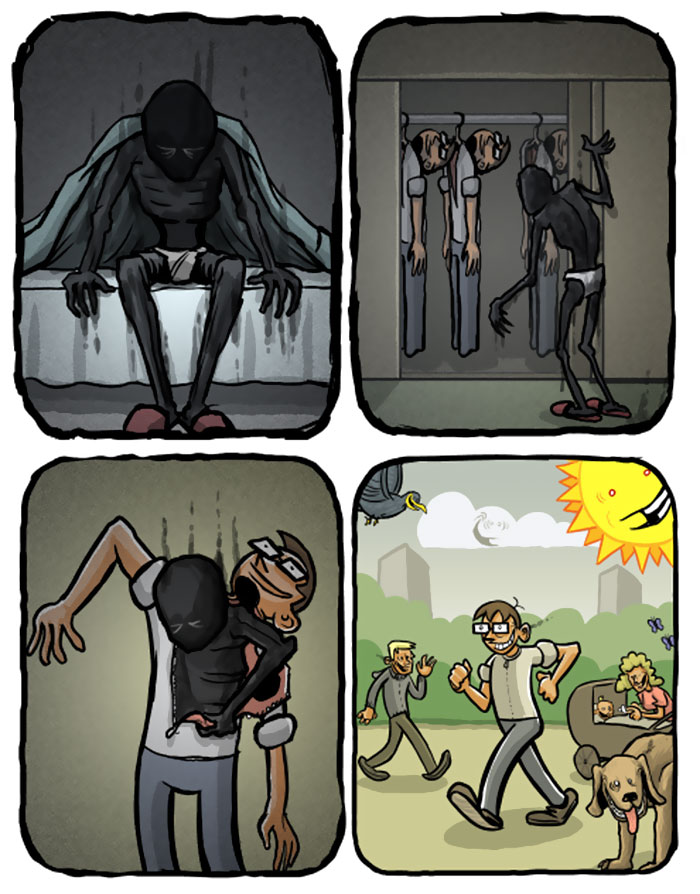 Depression Explained In Simple Comics By Optipess