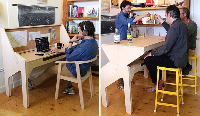 My Transforming Desk-Bar Lets Me Work Hard And Play Hard