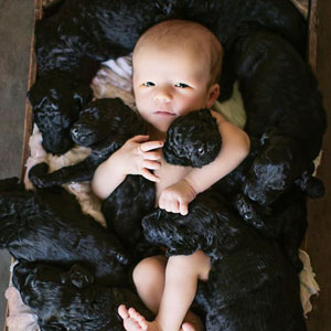 Human And Her Dog Had Babies On The Same Day So They Did An Adorable Photoshoot