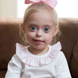 2-Year-Old Girl With Down Syndrome Wins Modeling Contract Thanks To Her Cheeky Smile