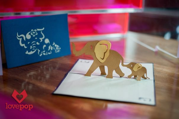 Elephant Pop Up Card