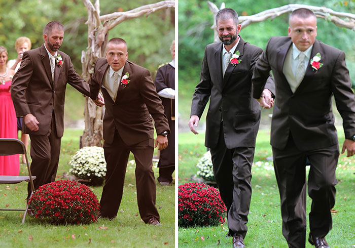 Bride's Dad Stops Wedding To Invite Her Stepfather To Walk Down The Aisle With Them