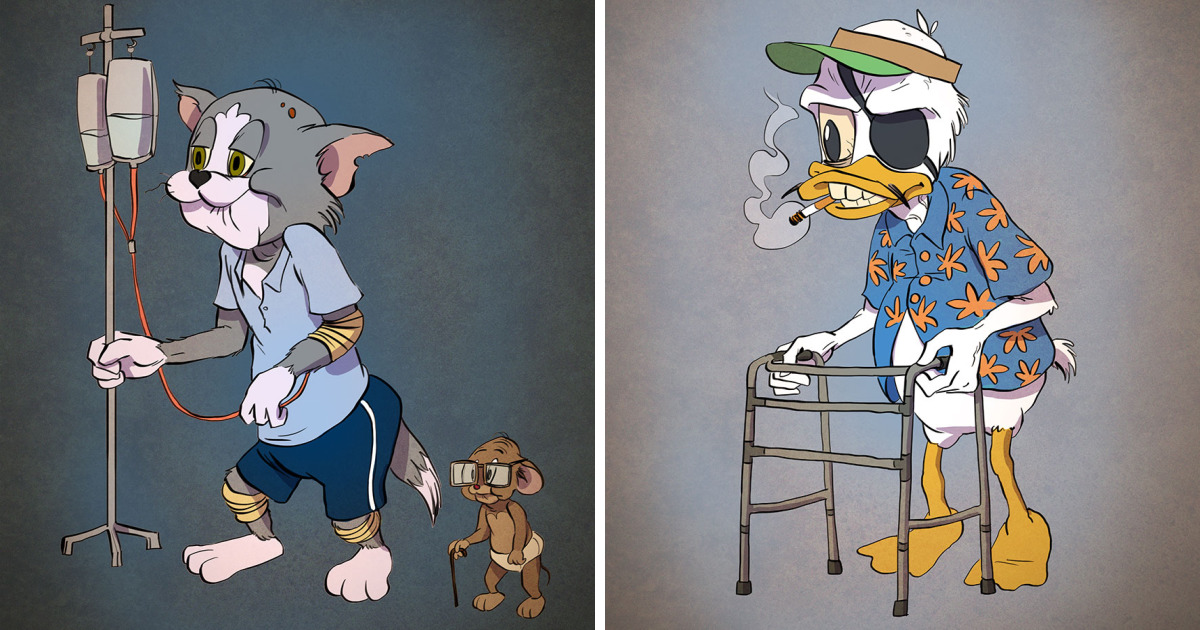 If Cartoon Characters Looked Their Age