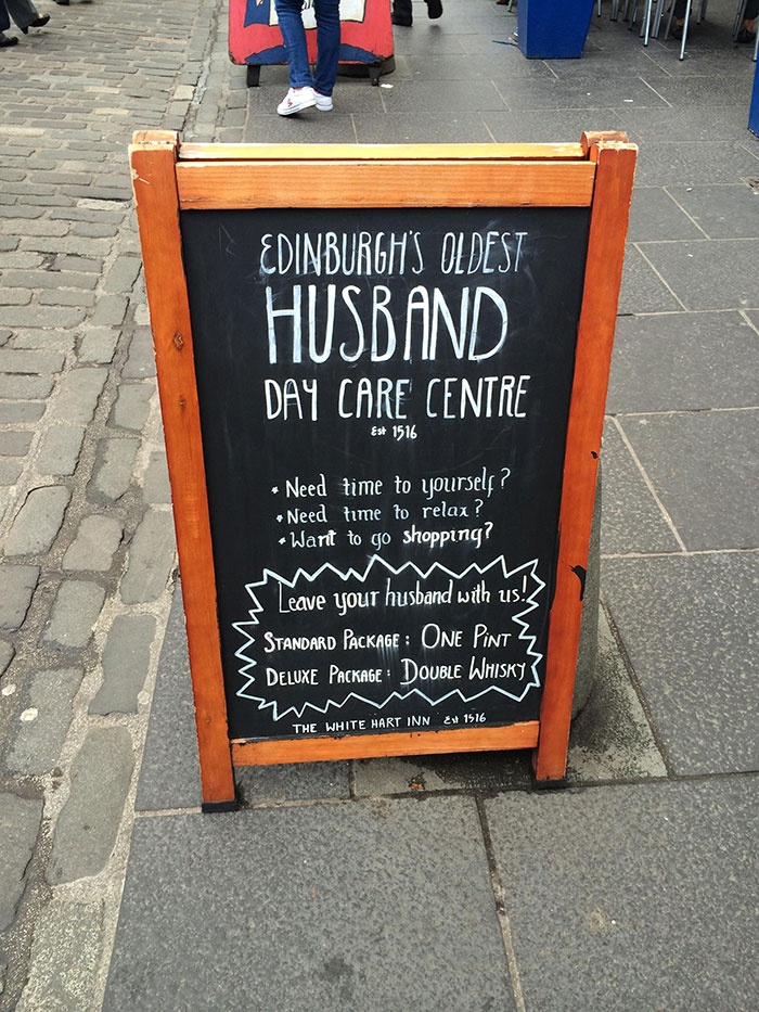 Excellent Pub Sign In Edinburgh