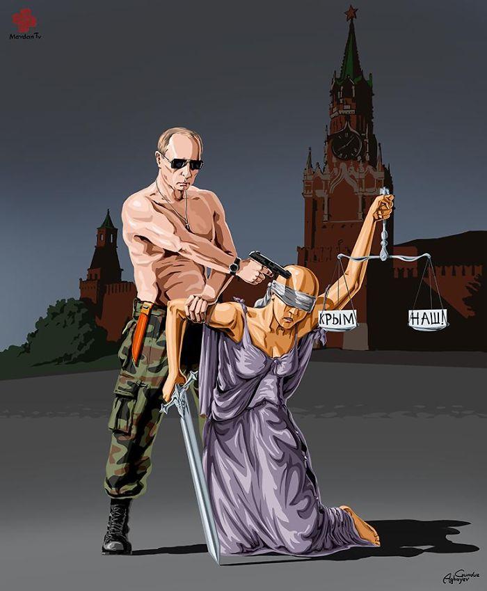 Σατιρικά σκίτσα αποτυπώνουν τη σχέση ηγετών και δικαιοσύνης