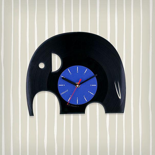 Elephant Vinyl Clock