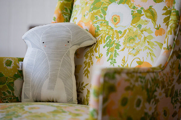Handmade Elephant Pillow