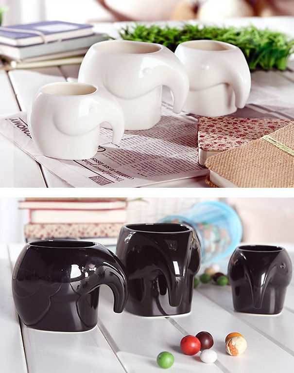 Elephant Shaped Coffee Cups