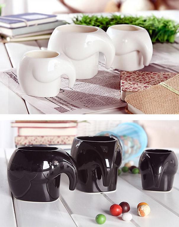 Elephant Shaped Coffee Cups