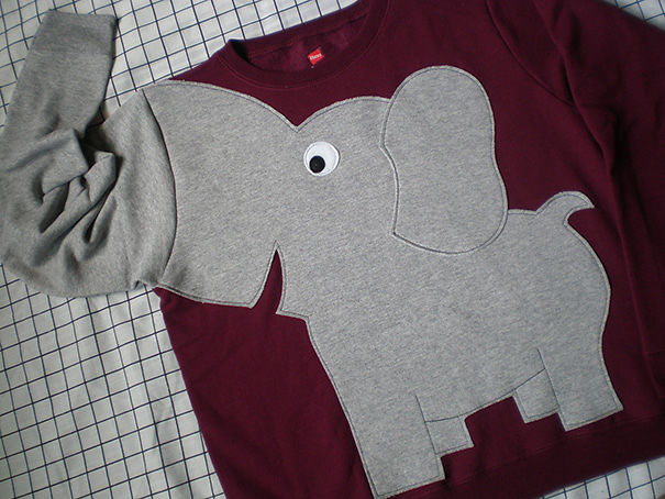 Elephant Trunk Sleeve Sweatshirt