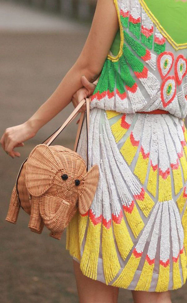 Elephant Basket Bag