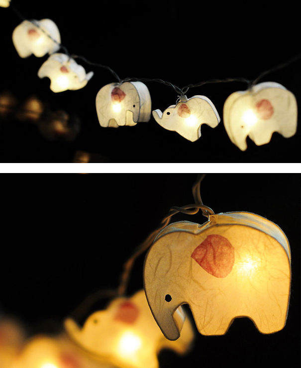 Elephant Paper Lantern String Light Bored Panda