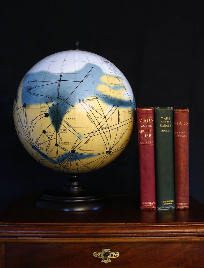 Handcrafted Globe Of Planet Mars