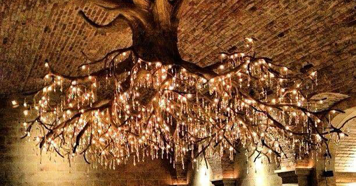 Tree chandelier in kathryn hall vineyard bored panda aloadofball Image collections