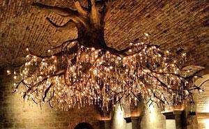 Tree Chandelier In Kathryn Hall Vineyard