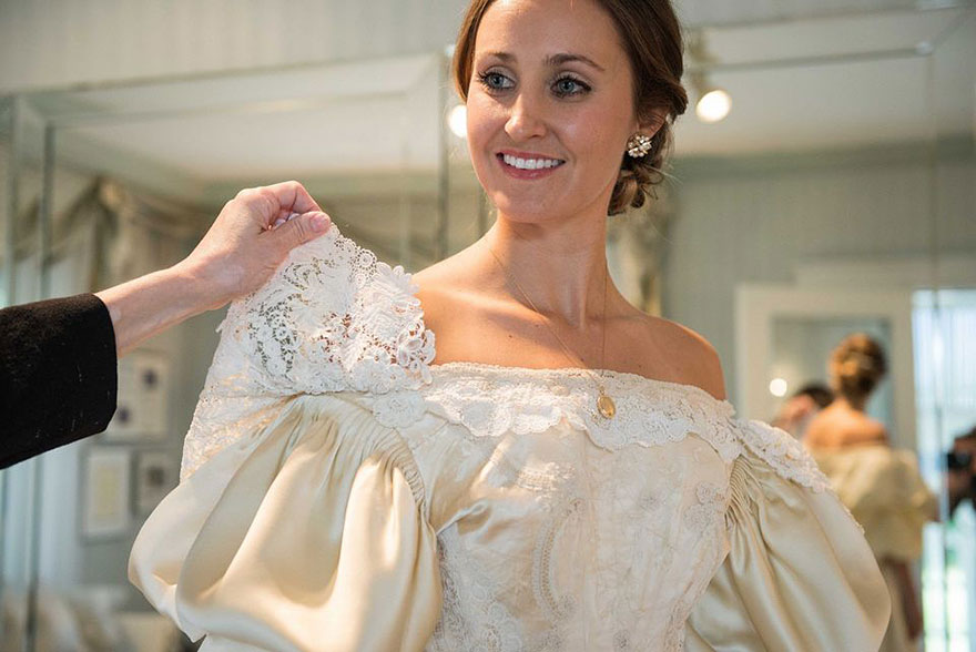 Bride Is 11th Woman In Her Family To Wear 120 Year Old Wedding Dress