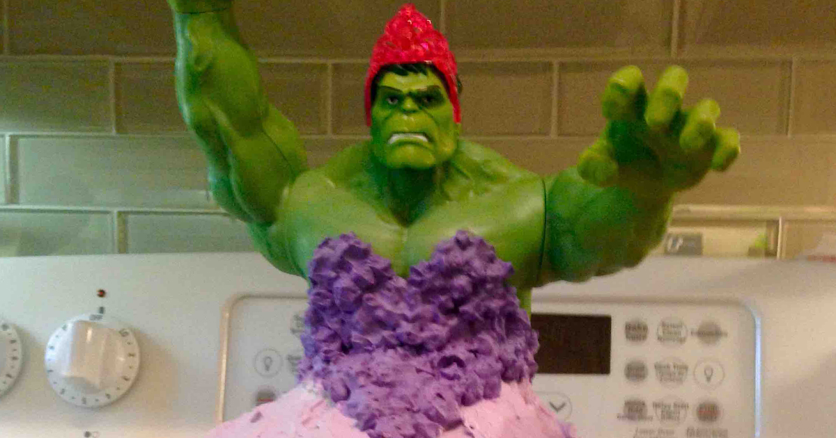 year old twin girls wanted hulk princess cake for their birthday and