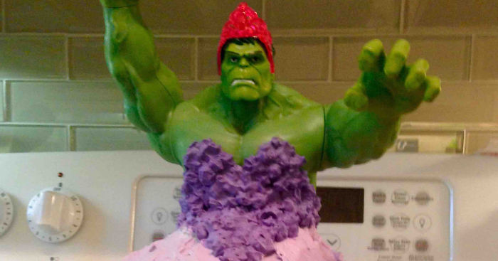 4 Year Old Twin Girls Wanted Hulk Princess Cake For Their