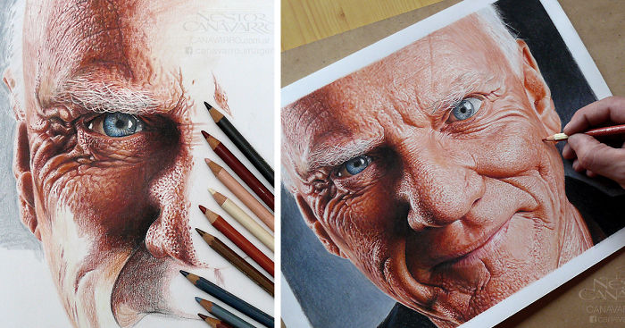 I Spent 50 Hours Drawing Malcolm Mcdowell's Portrait With ...