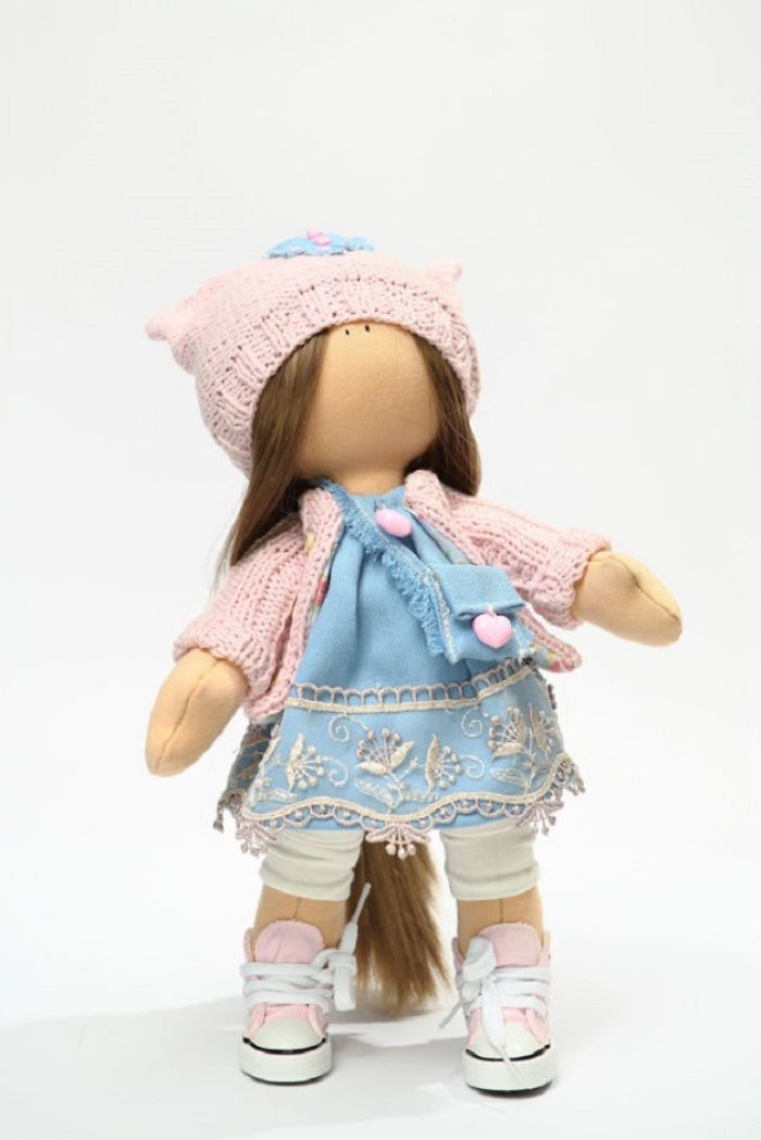 Cute Handmade Dolls With Little Wooden Hearts Inside!