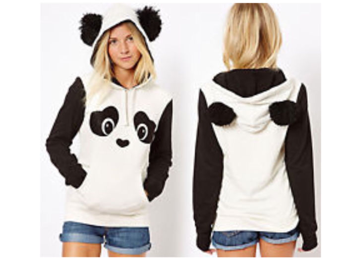 Cute Panda Ear Hoodie!
