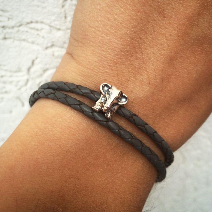 Pandora Bracelet With A 'lucky Elephant' Charm