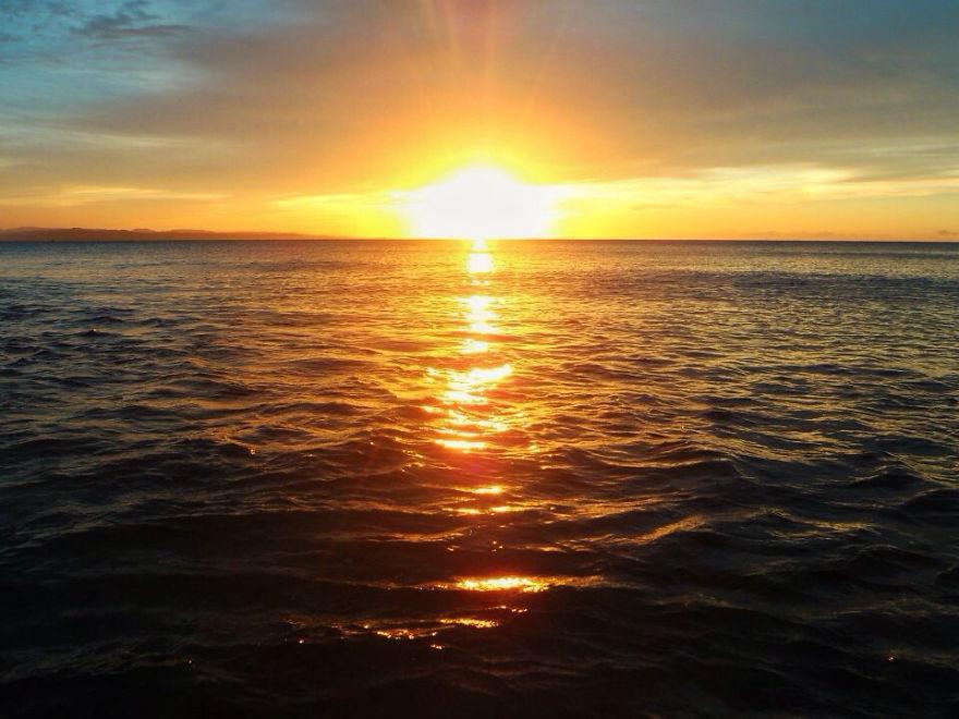 Sunset At Pagudpud Beach, Ilocos Philippines