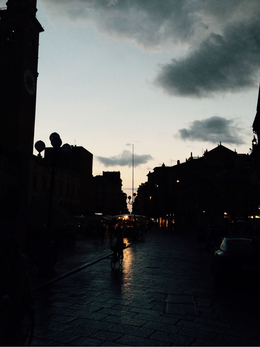 After The Rain In Verona,italy