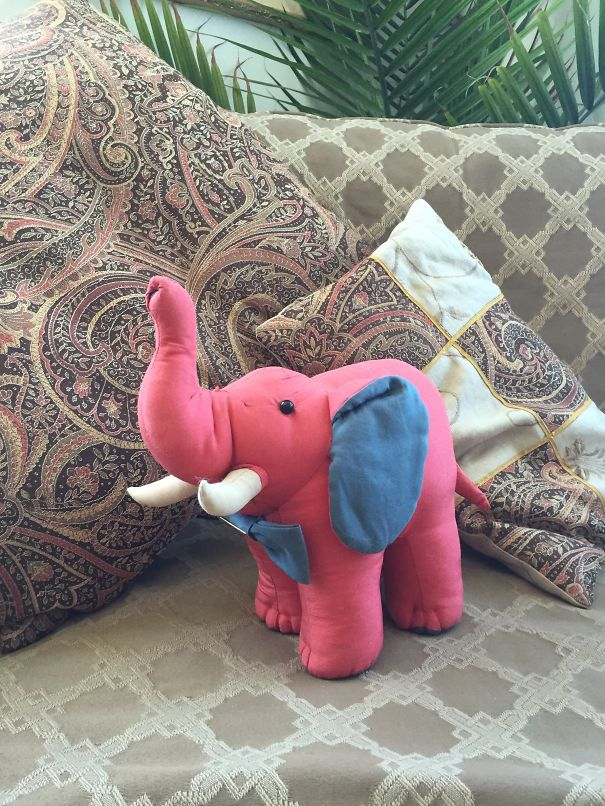 Jim Thompson Silk Elephant From China