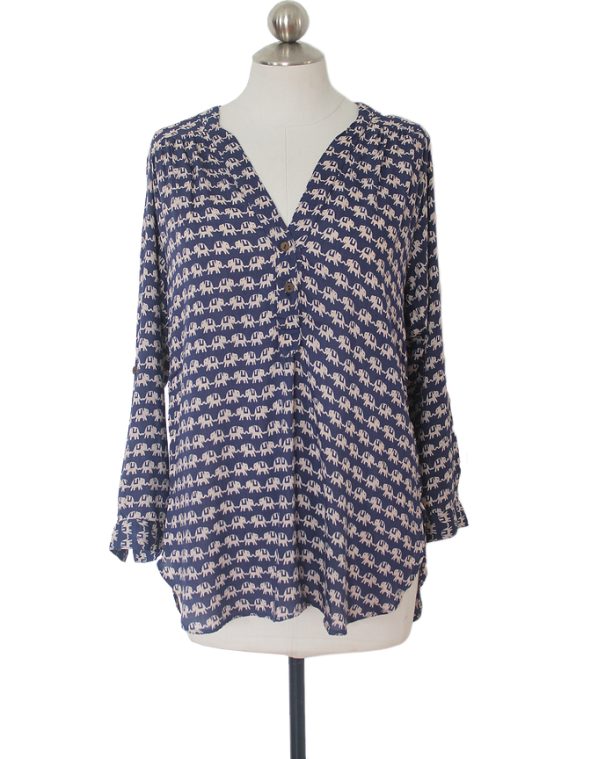 Kissing Elephant Tunic