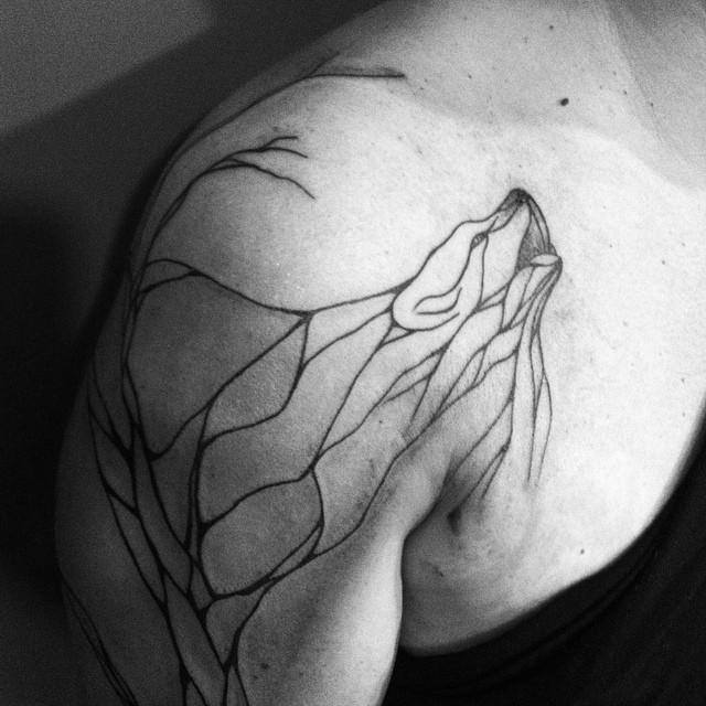 nature inspired tattoos that flow like veins bored panda. Black Bedroom Furniture Sets. Home Design Ideas