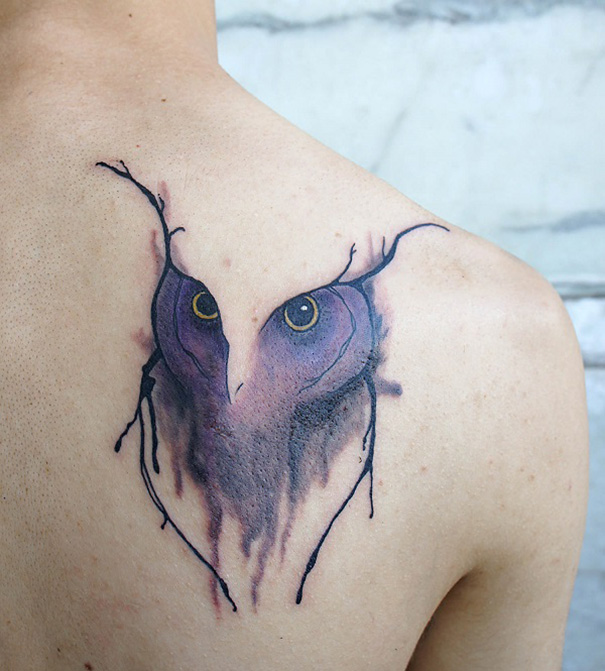 Image of: Veins Linearanimaltattoo7 Bored Panda Natureinspired Tattoos That Flow Like Veins Bored Panda