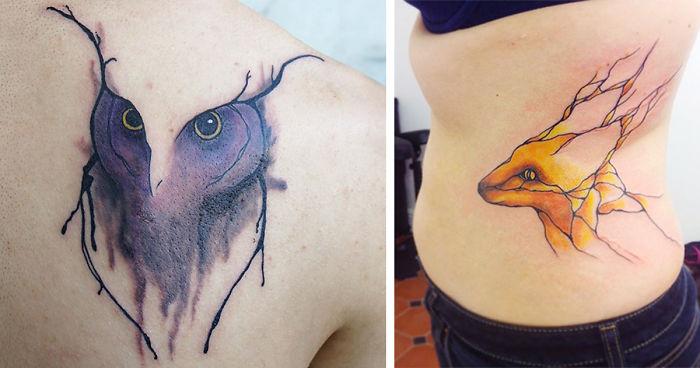 10f0825b9 Nature-Inspired Tattoos That Flow Like Veins   Bored Panda