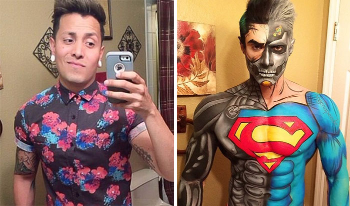 Makeup Artist Turns Himself Into Superheroes With Nothing But Makeup
