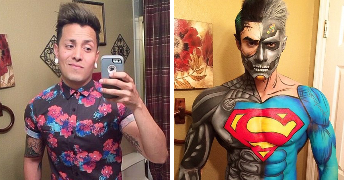 Makeup Artist Turns Himself Into Superheroes With Nothing But ...