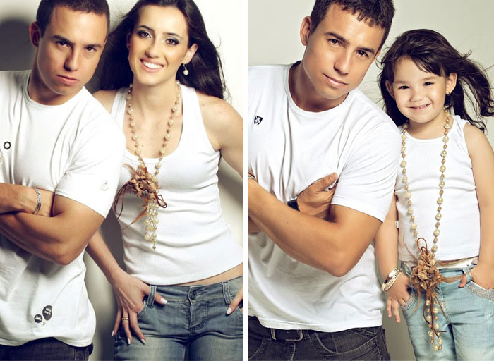 Man Recreates Photos Of His Late Wife With His 3-Year-Old Daughter 3 Years After The Accident