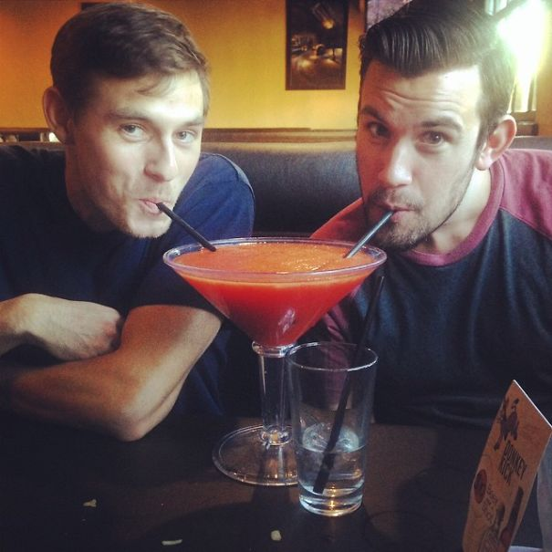 Happy Hump Day Betches!! #twobrosonestraw Wesosilly #tequilamakesourclothescomeoff